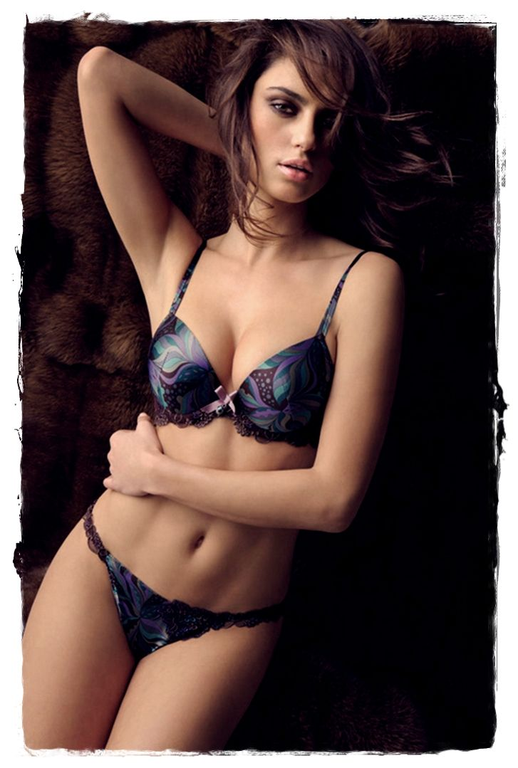 #Lingerie Models - Catrinel Menghia Poses in Lise Charmel Lingerie 20